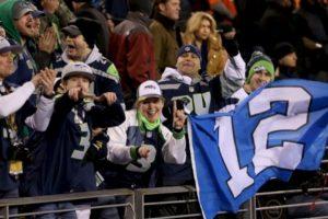 """Los aficionados de los Seahawks, quienes se autodenominan el """"Duodécimo hombre"""". Foto:AFP. Imagen Por:"""