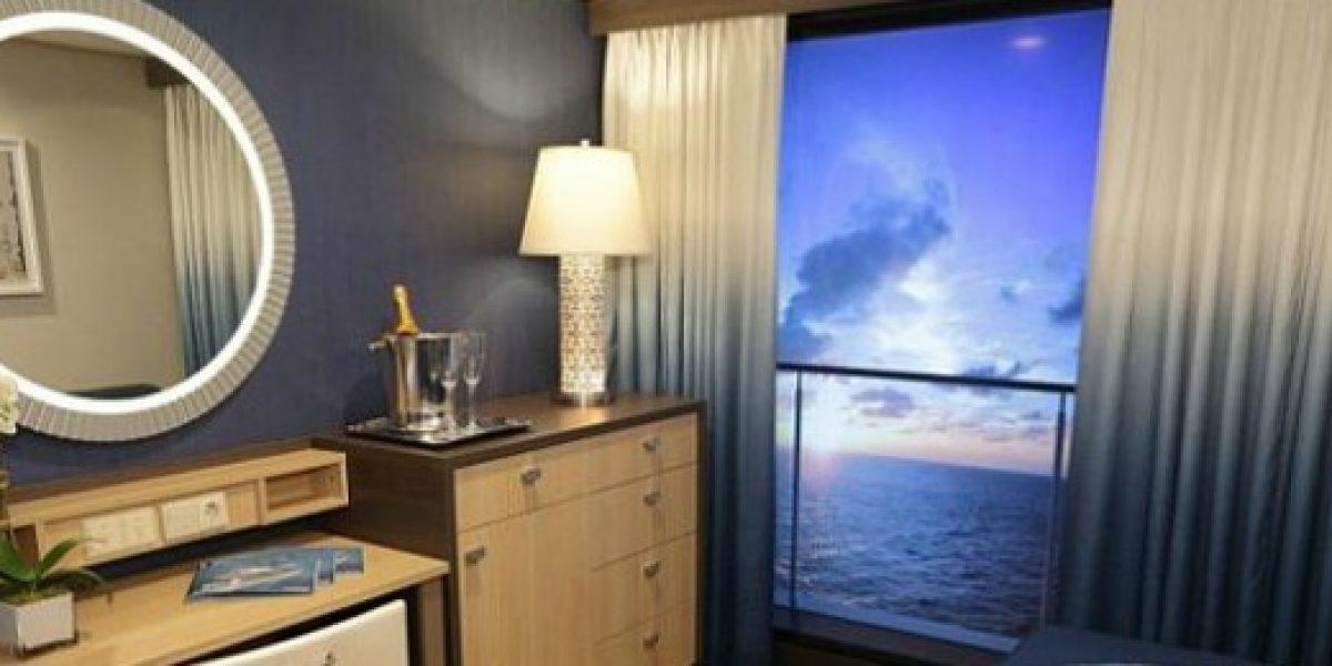 Habitaciones de un crucero con una vista muy especial