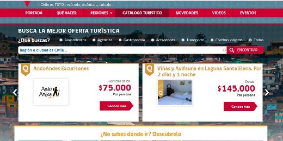 Sernatur lanza catálogo con más de 100 servicios turísticos de todo Chile