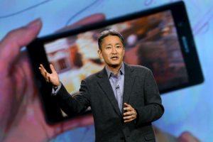 Kazuo Hirai, CEO de Sony en un evento de la compañía. Foto:getty images. Imagen Por: