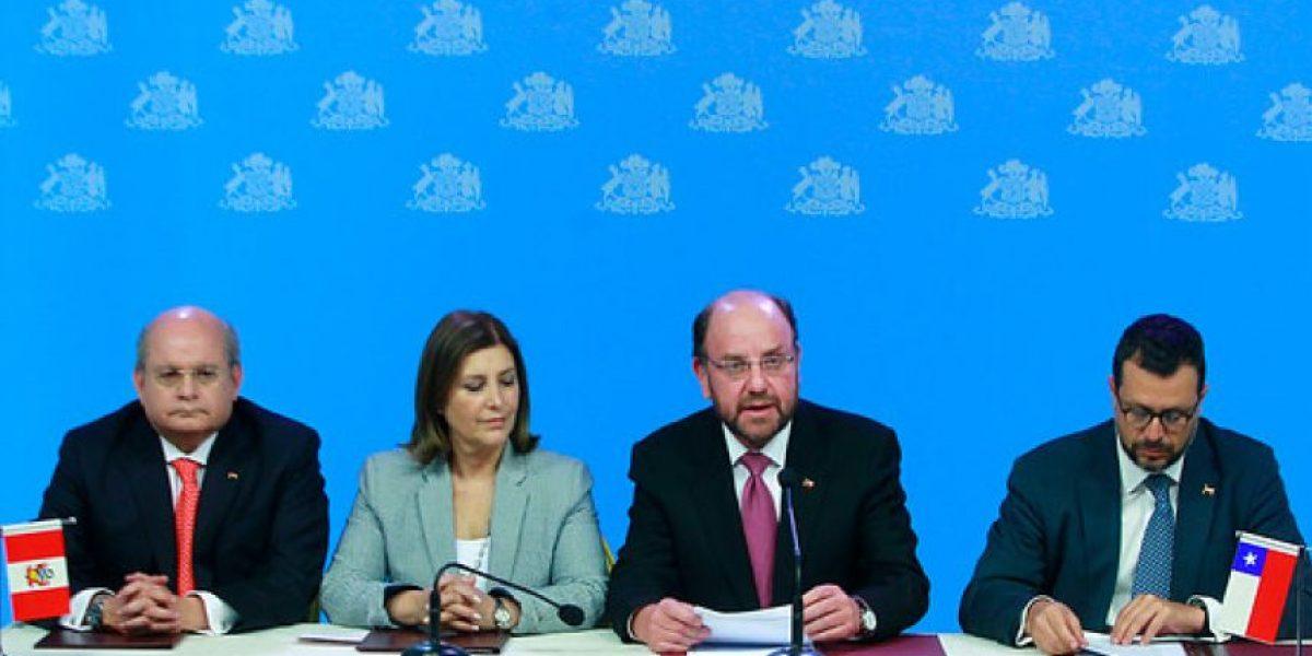 Chile y Perú fijarán en marzo nuevas coordenadas marítimas