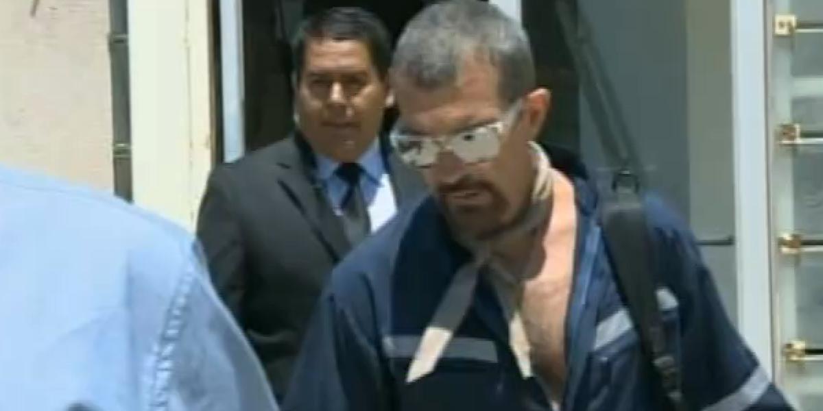 Canal 13 captó las primeras imágenes de Antonio Banderas como Mario Sepúlveda