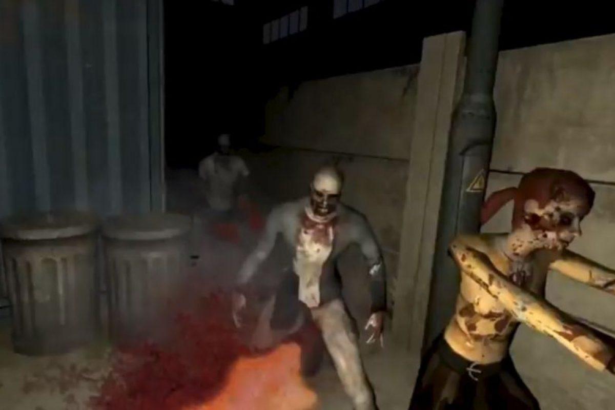 Luchar contra zombies. Foto:Zero latency / YouTube. Imagen Por:
