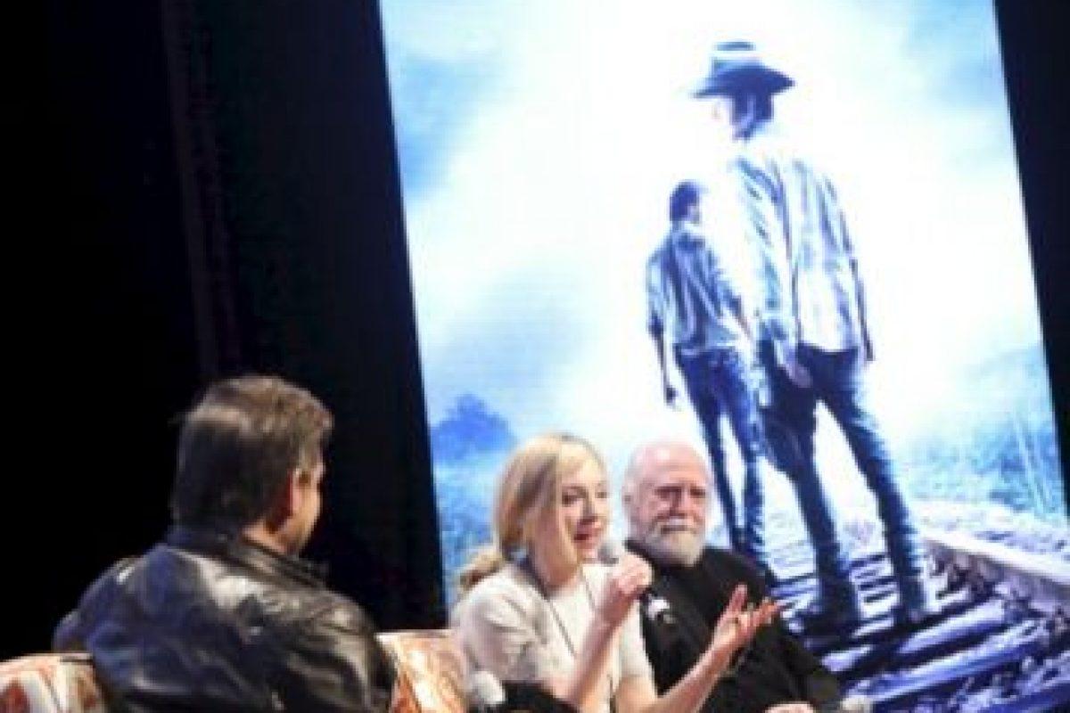 Emily Kinney y Scott Wilson en entrevista Foto:Getty image. Imagen Por: