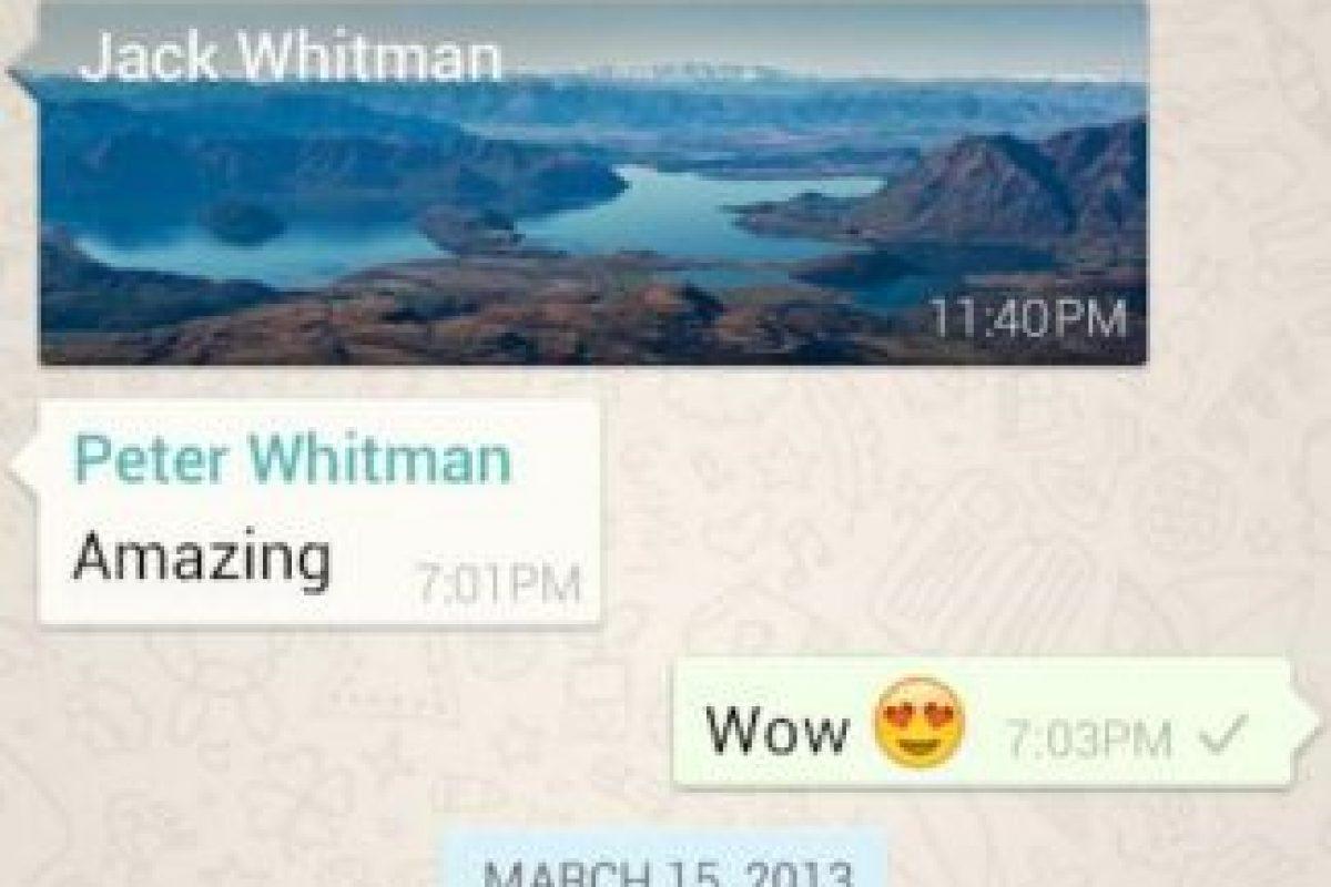 Chat en WhatsApp. Foto:WhatsApp. Imagen Por:
