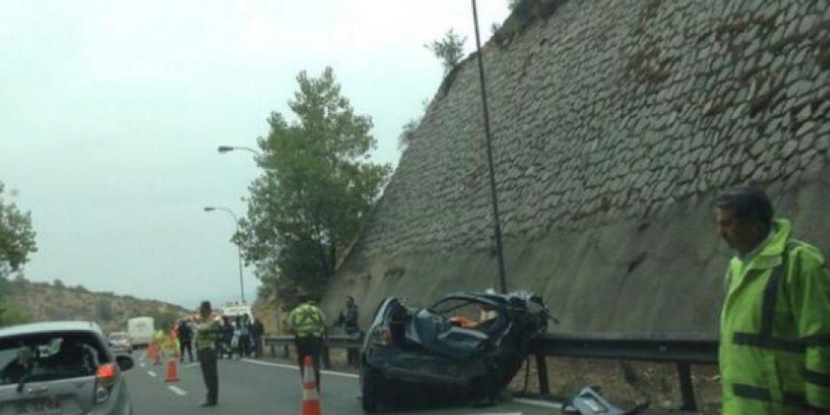 Accidente fatal en túnel Zapata genera gran congestión en Ruta 68