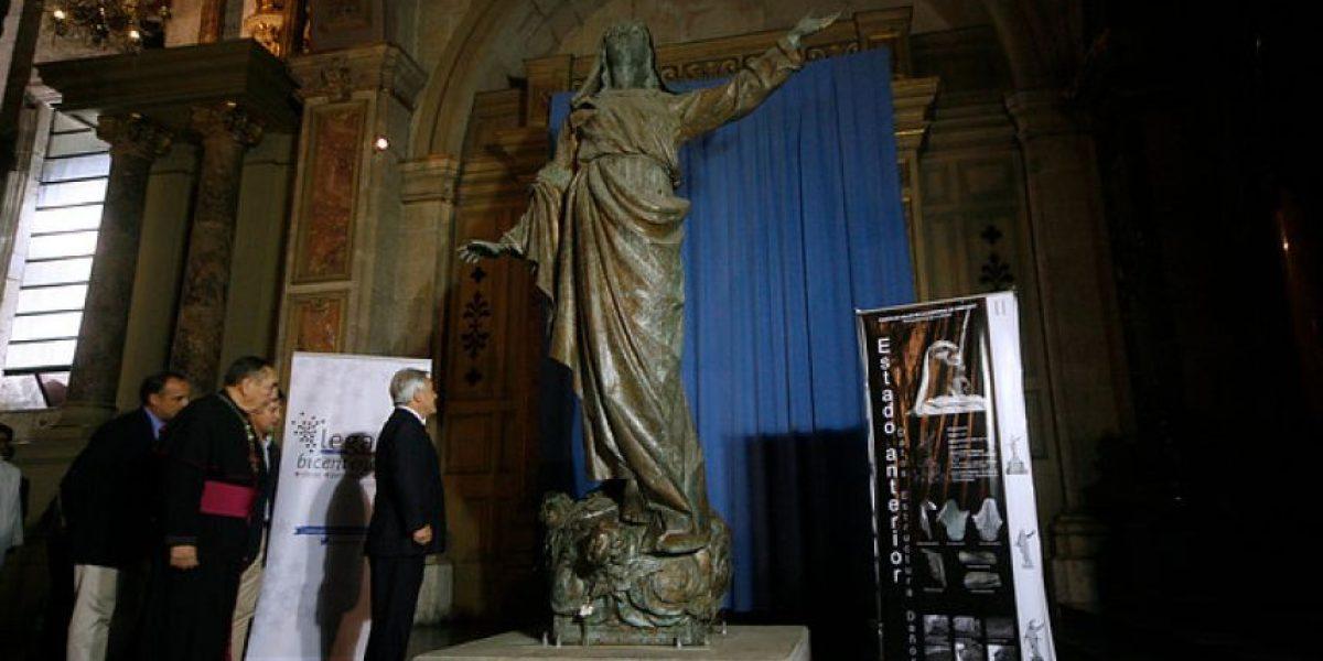 Fotos: Piñera instala primera piedra en trabajos de remodelación de Catedral de más de $3.500 millones