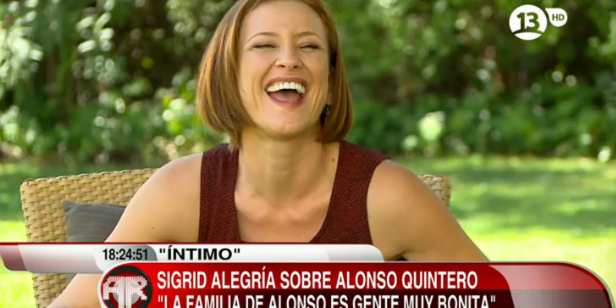 Sigrid Alegría admite relación con Alonso Quintero