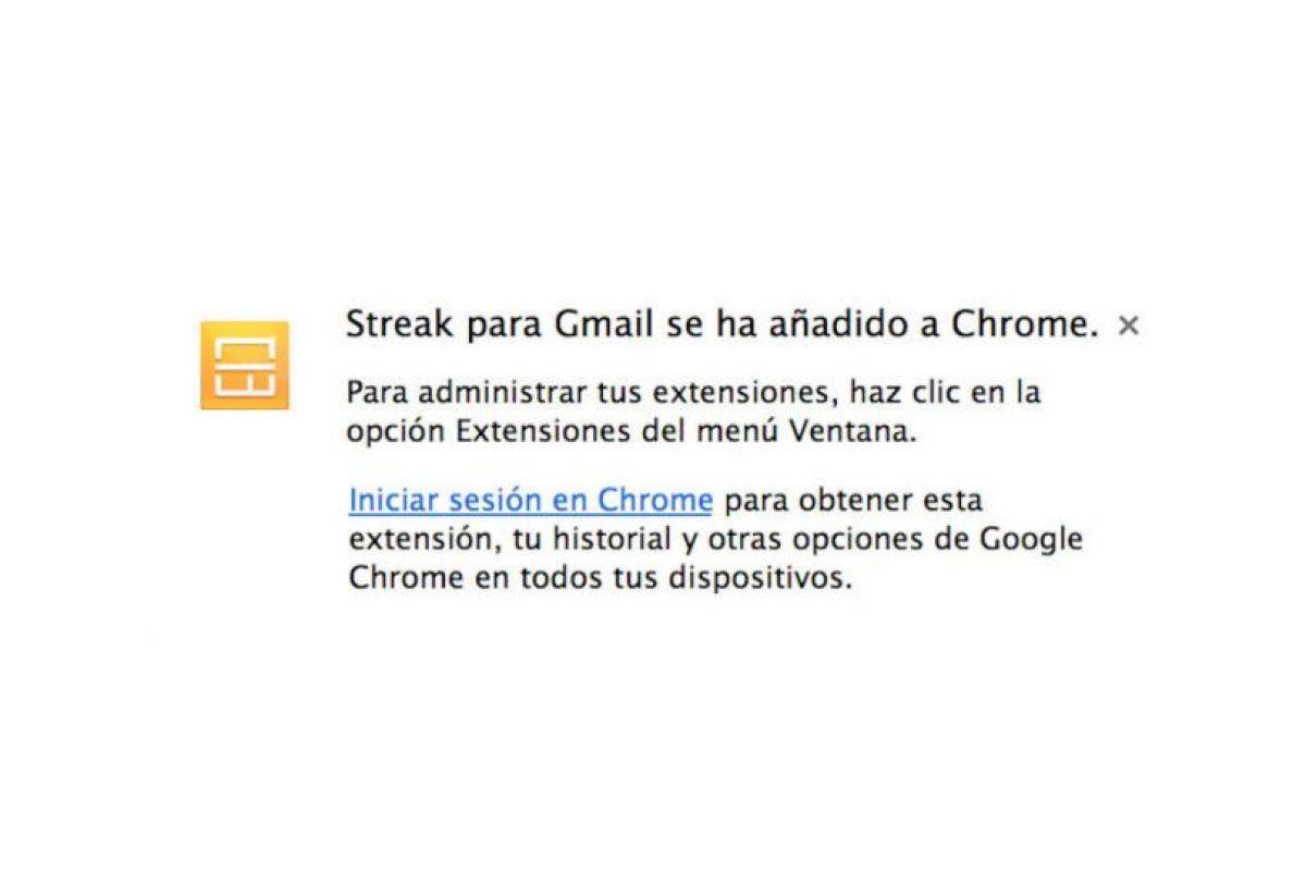 Deben iniciar sesión en su cuenta de Gmail. Foto:Streak. Imagen Por: