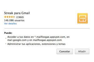 Deben bajar la extensión de la Chrome Web Store. Foto:Streak. Imagen Por:
