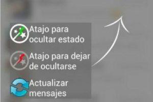 """Para enviar y recibir mensajes deben elegir """"Actualizar mensajes"""". Foto:Kiwiio. Imagen Por:"""