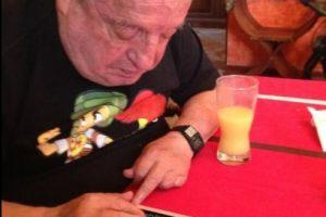 Roberto Gómez Bolaños tuiteando. Foto:Twitter. Imagen Por: