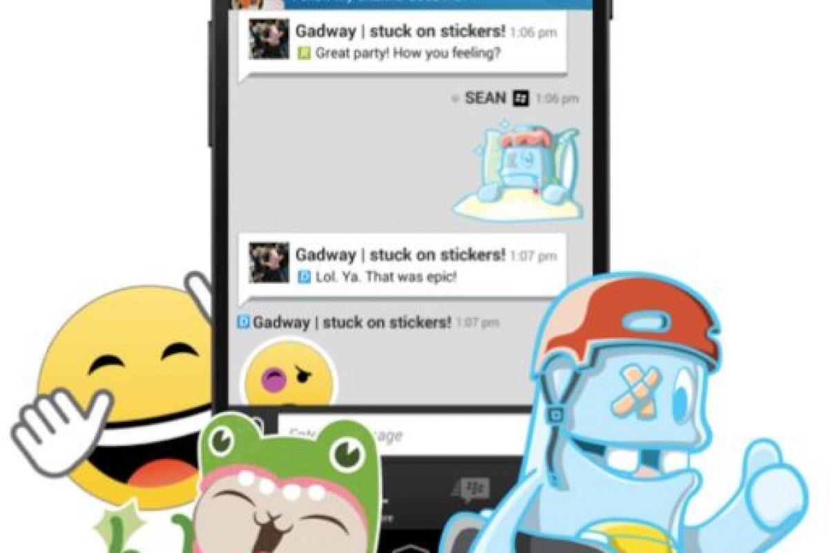 Los stickers de BBM. Foto:BBM. Imagen Por: