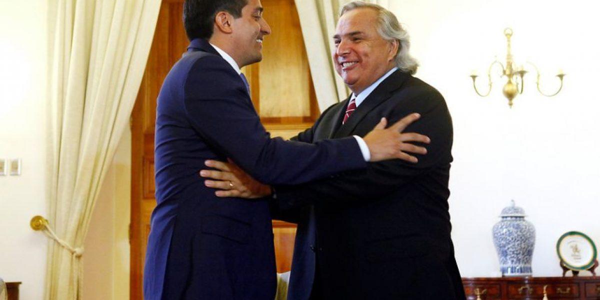 Se concretó esperada reunión entre futuro ministro del Interior y Andrés Chadwick