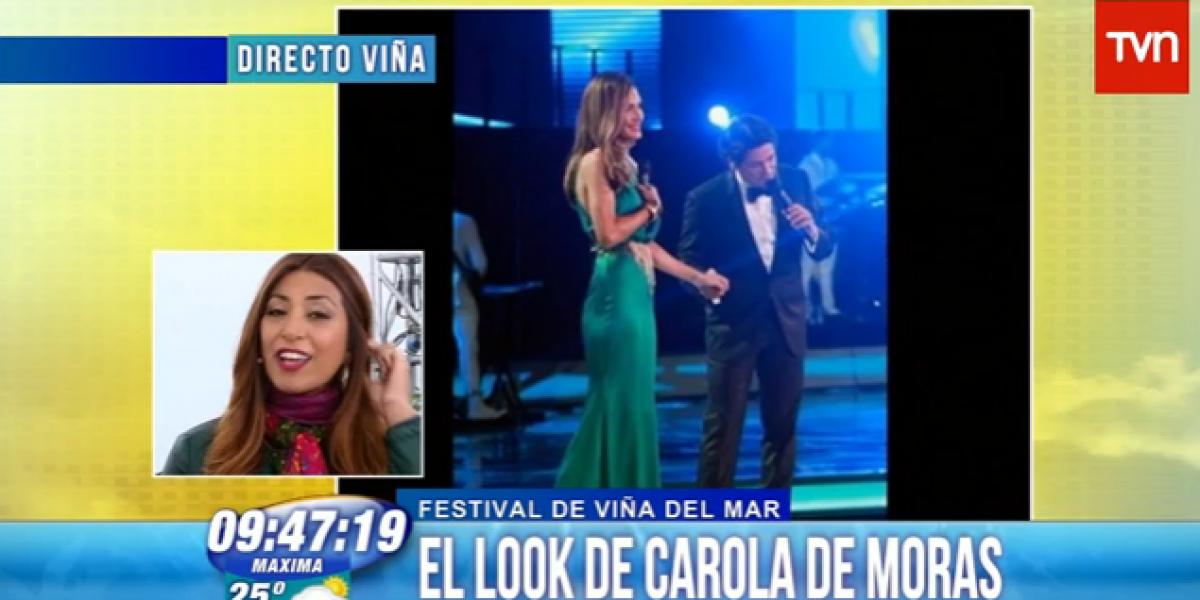 Matinales critican look de Carola de Moras en su primera noche