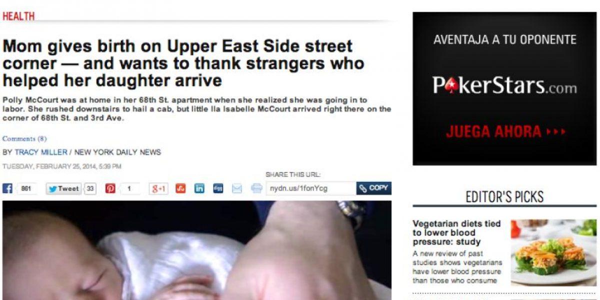 [FOTOS+VIDEO] Mujer da a luz en plena calle en Nueva York