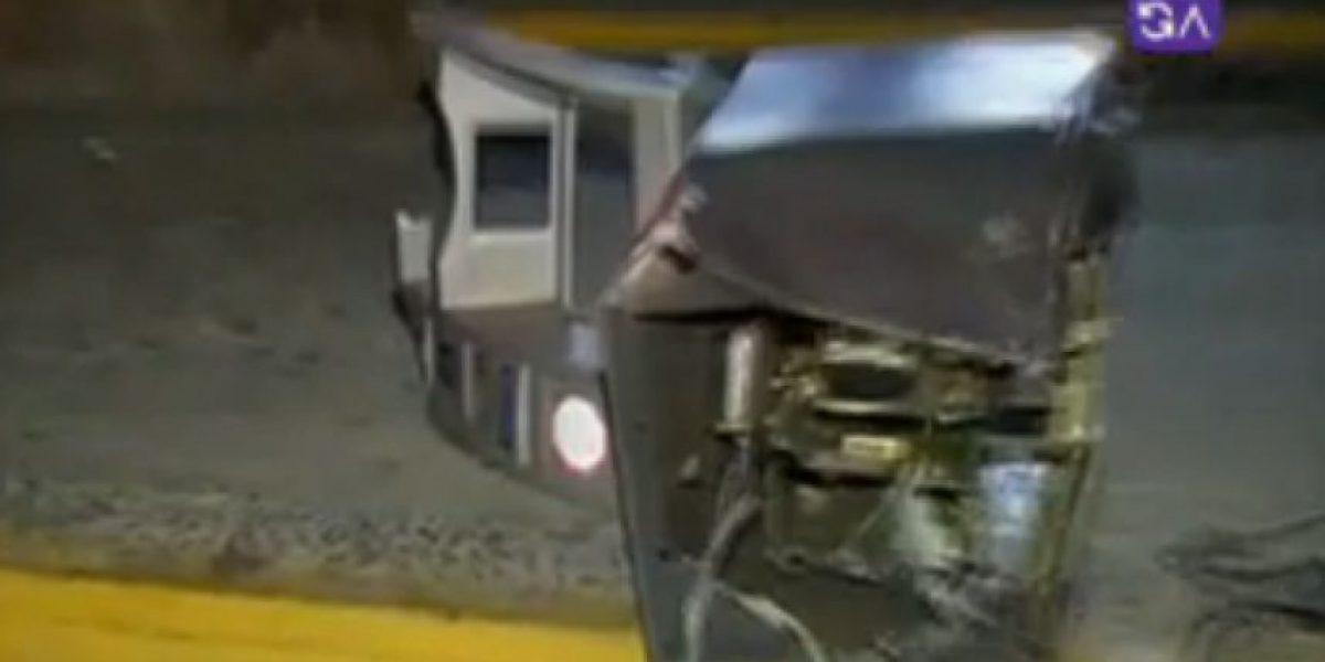 Delincuente robaron cajero automático de la estación de Metro Carlos Valdovinos