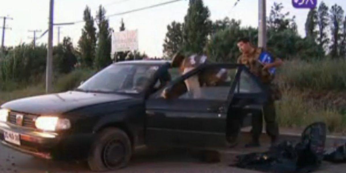 Persecución policial terminó con tres carabineros heridos en Quilicura