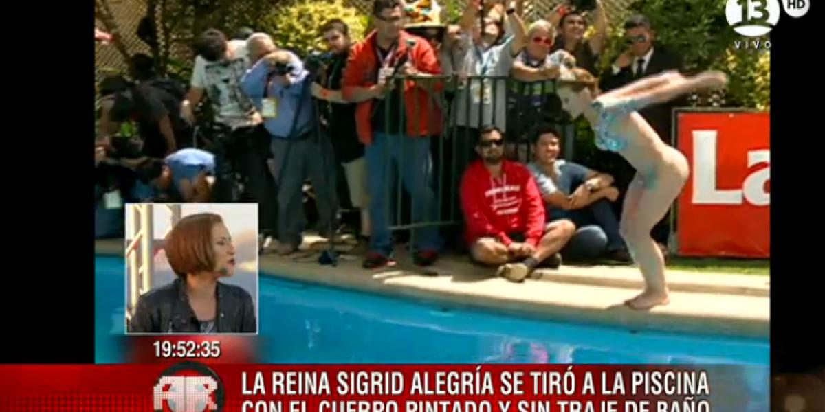 Sigrid Alegría tras piscinazo: