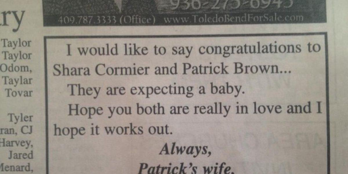 Mujer publica gracioso anuncio para vengarse de su marido infiel