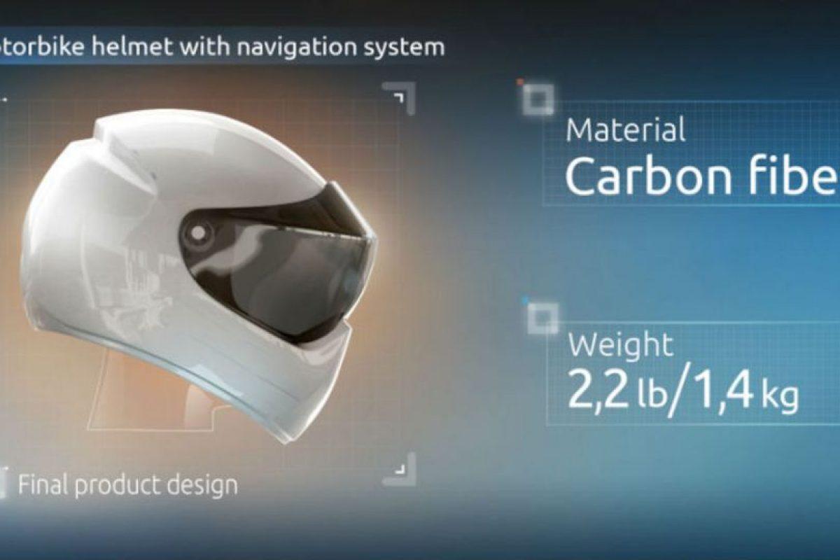Live Map, un casco inteligente de realidad aumentada, que aparte de proteger al usuario, le proyecta toda la información que necesita sobre el curso que está tomando. Foto:Facebook. Imagen Por: