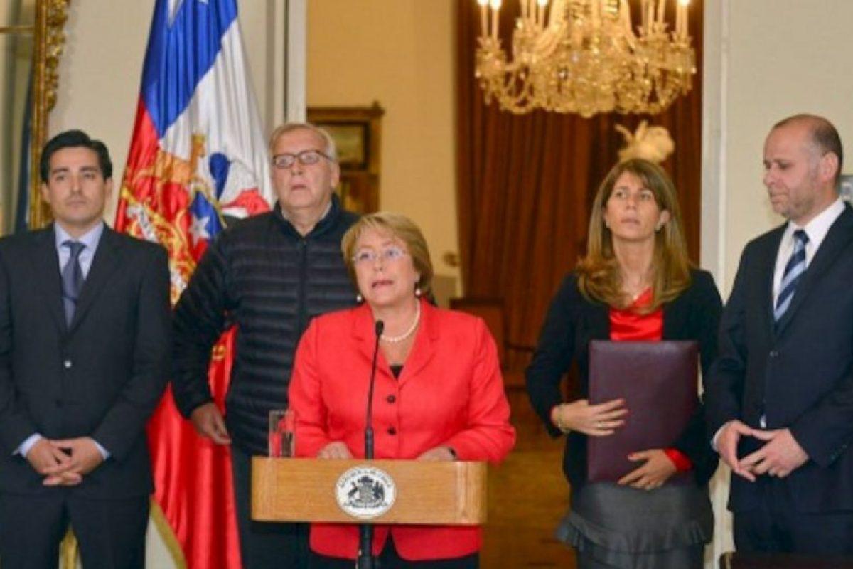 La preseidenta Michelle Bachelet en discurdo a la nación Foto:AFP. Imagen Por: