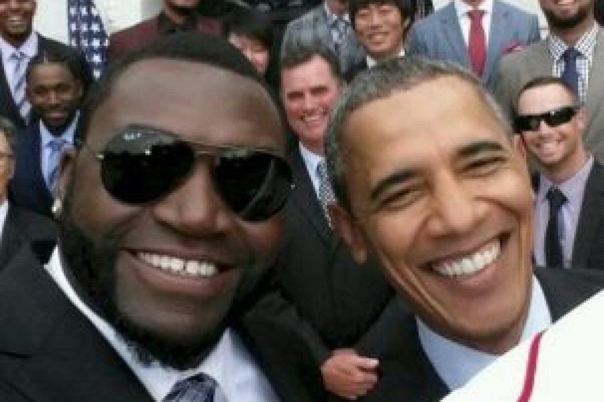 Selfie de David ortíz con Obama Foto:Twitter / @davidortiz. Imagen Por: