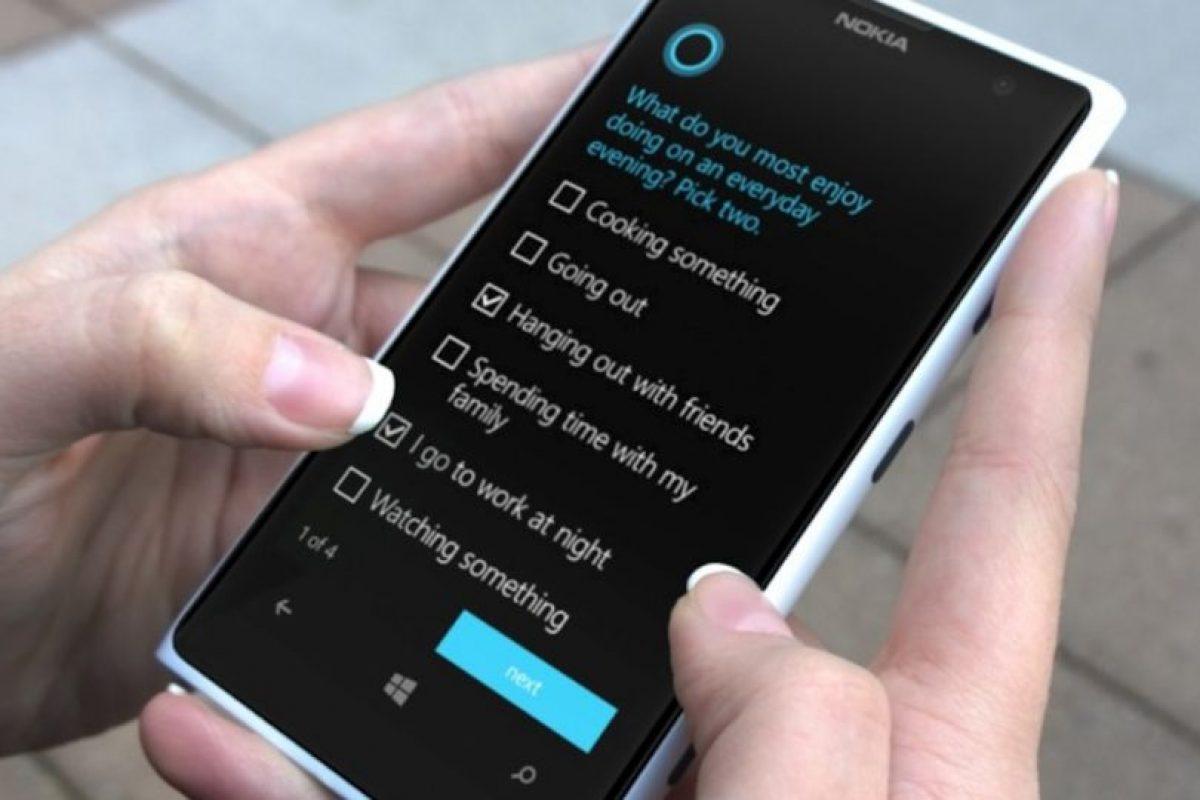 """Los ajustes de """"Cortana"""" Foto:Windows Phone. Imagen Por:"""