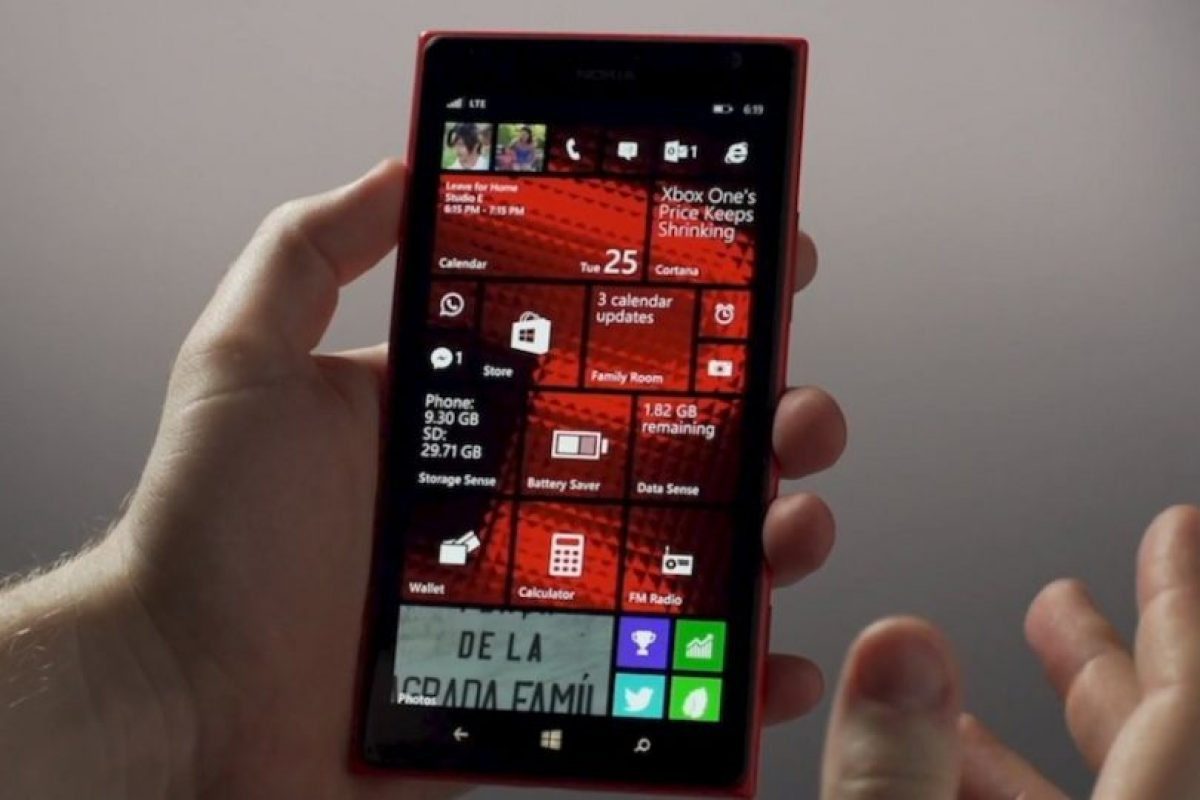 La pantalla de inicio en Windows Phone 8.1 Foto: Windows Phone. Imagen Por: