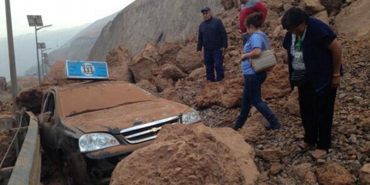 Terremoto dejó serios daños en la Ruta A-16 que une Alto Hospicio con Iquique