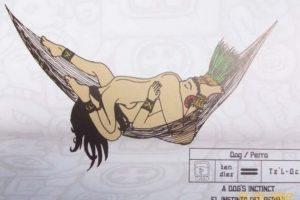 El MayaSutra es ilustrado en el libro del venezolano Carlos Torrealba. Foto: Hamaca Sutra/Doggie. Imagen Por: