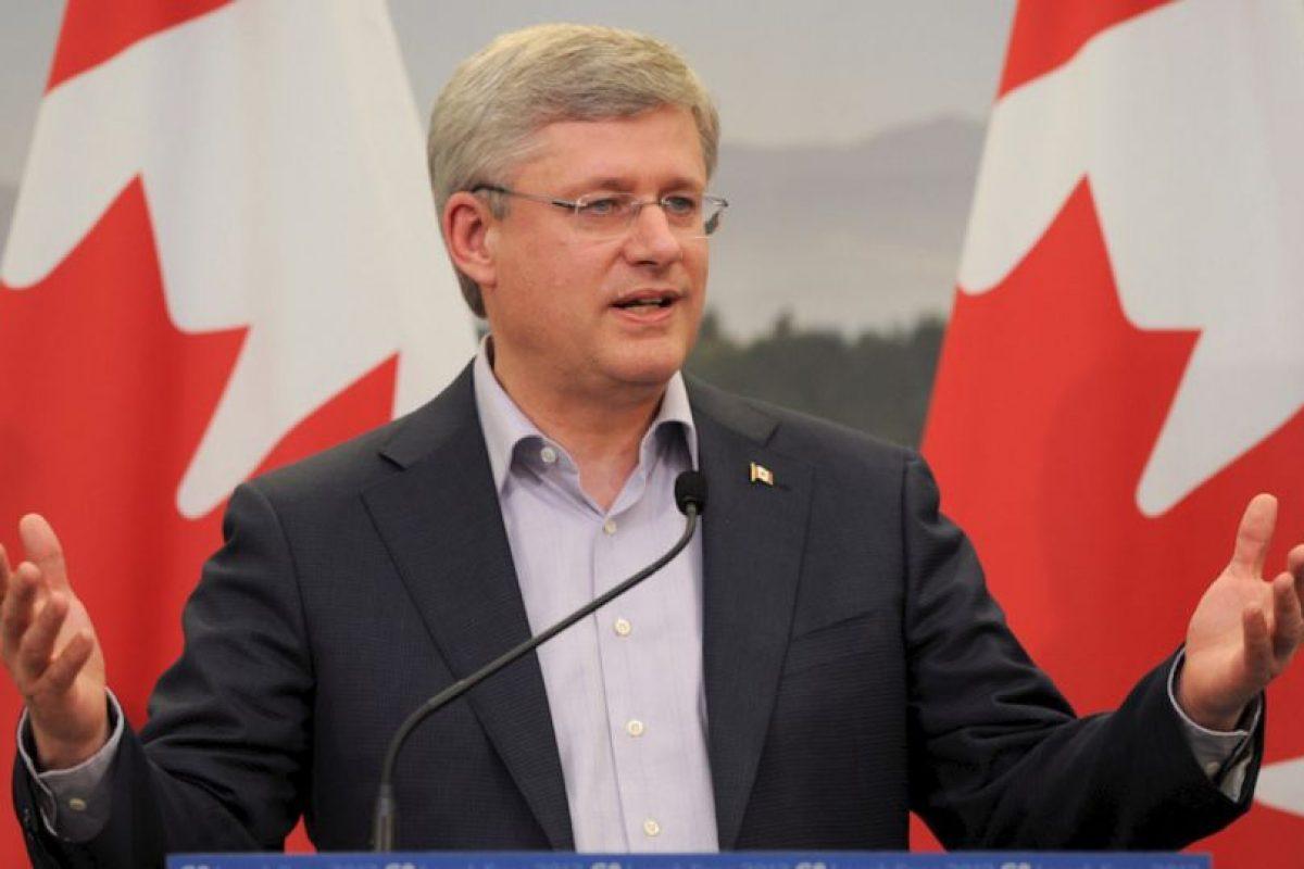 7.- Stephen Harper (Canadá) 44% Foto:Getty Images. Imagen Por: