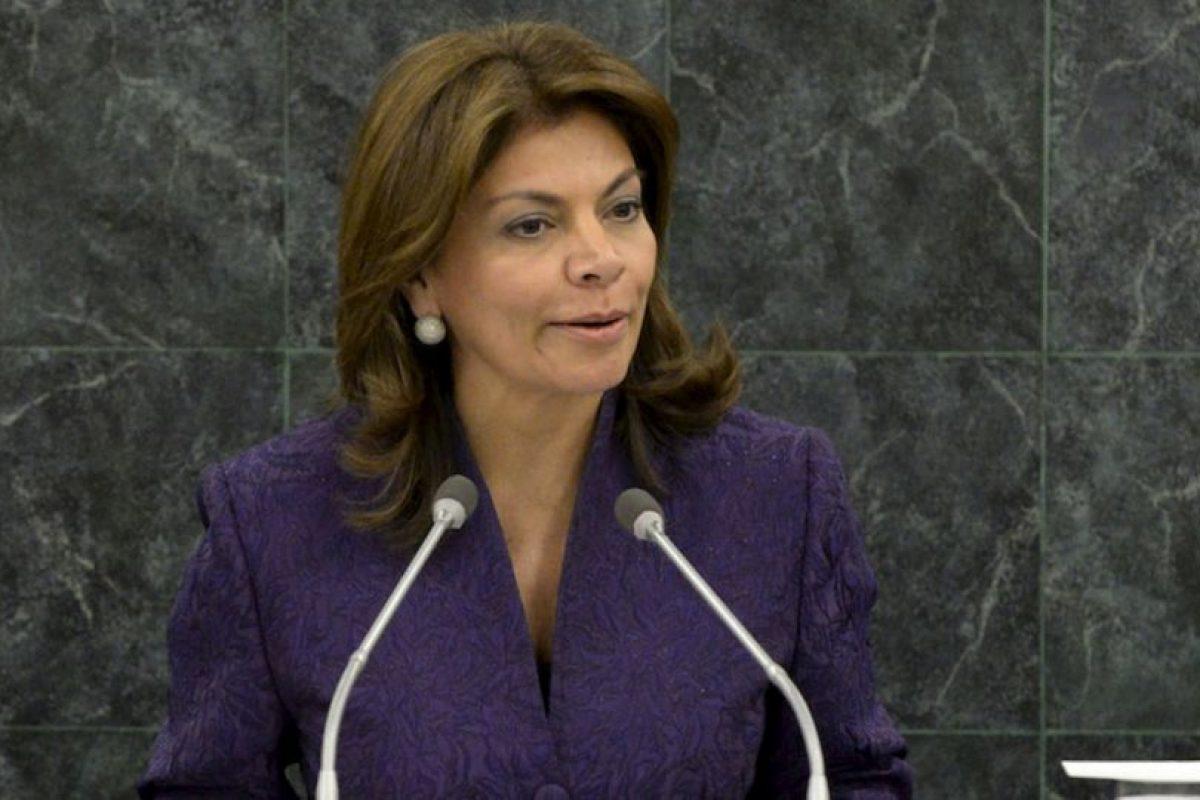 1.- Laura Chinchilla (Costa Rica) 16% de aprobación Foto:Getty Images. Imagen Por: