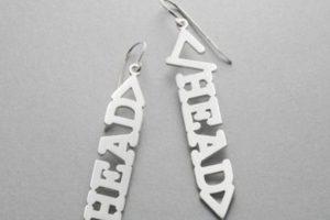 """Pendientes """"HEAD"""" de la colección HTML, otro de los diseños originales de Sakurako Shimizu. Foto:Sakuakoshimizu.blogspot. Imagen Por:"""