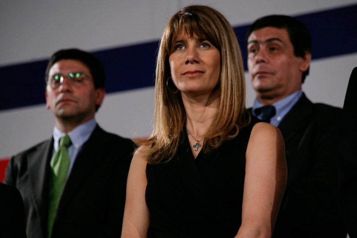 La actual vocera de la Presidencia y pareja de Oliva, Ximena Rincón. Foto:Agencia Uno. Imagen Por: