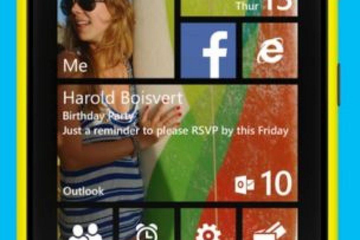 Se puede colocar una imagen propia como fondo de pantalla. Foto:Windows Phone. Imagen Por: