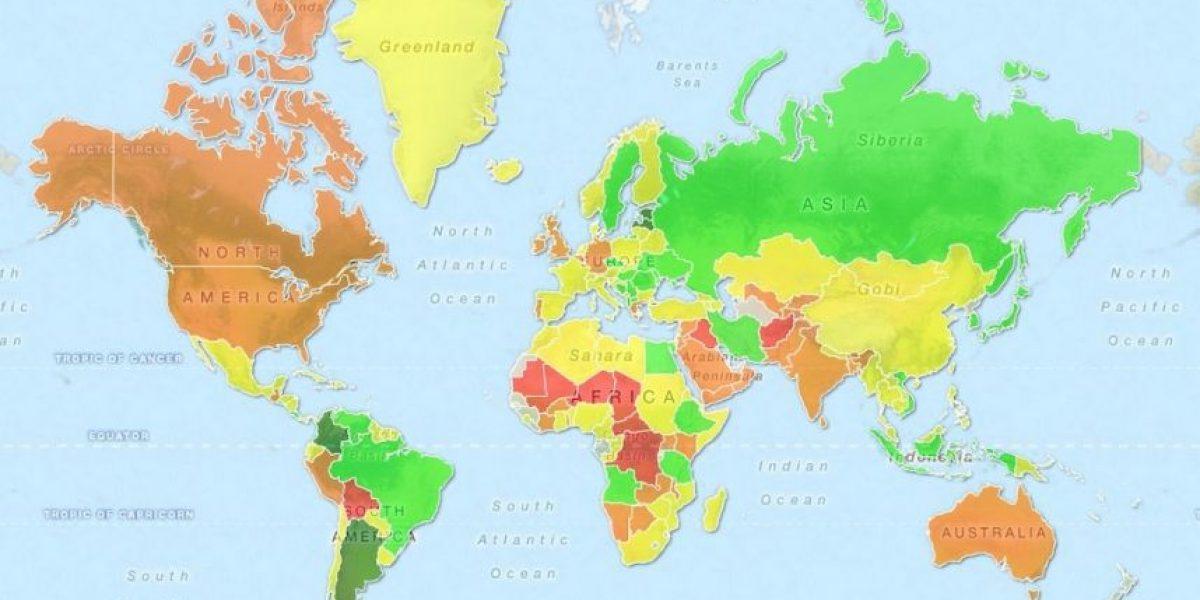 El mapa de las mujeres más sexy del mundo