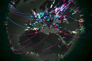 El mapa muestra el momento en que se detecta una amenaza y la manera en que se puede resolver Foto:Captura Video. Imagen Por: