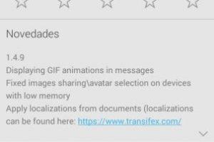 La versión 1.4.9 es la que soporta GIF Foto:Telegram. Imagen Por: