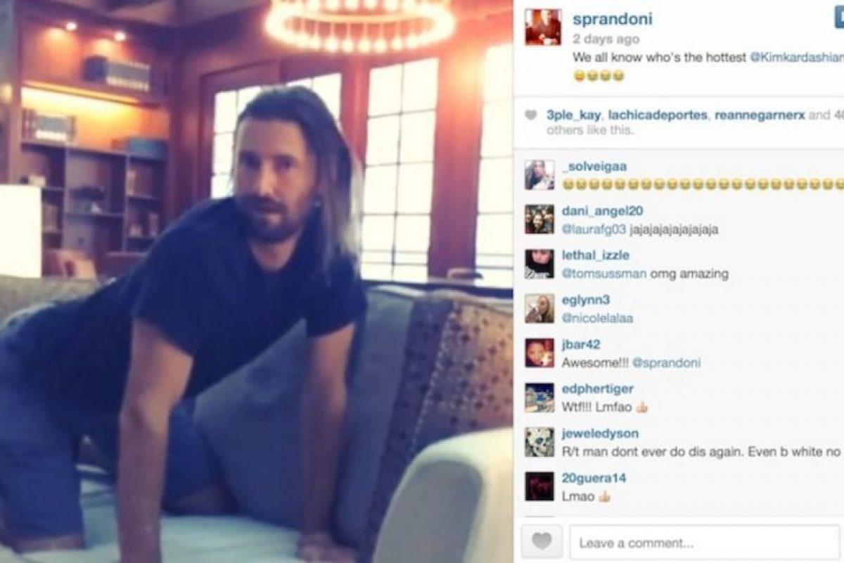 """""""Todos sabemos quién es el más 'hot' @kimkardashian"""", escribió Brandon Jenner Foto:Instagram / Brandon Jenner. Imagen Por:"""