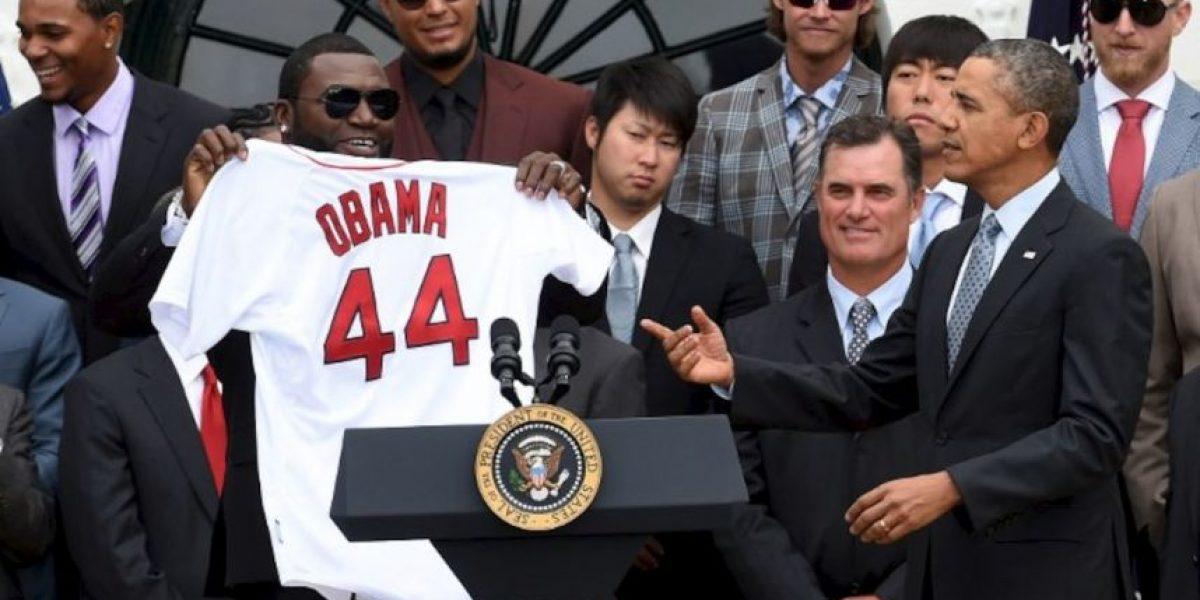 Beisbolista niega que su selfie con Obama haya sido pagado por Samsung