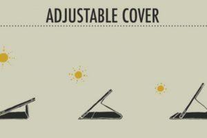 Solartab: Al poderse colocar en tres diferentes ángulos, permite una mayor captura de energía. Foto:Kickstarter. Imagen Por: