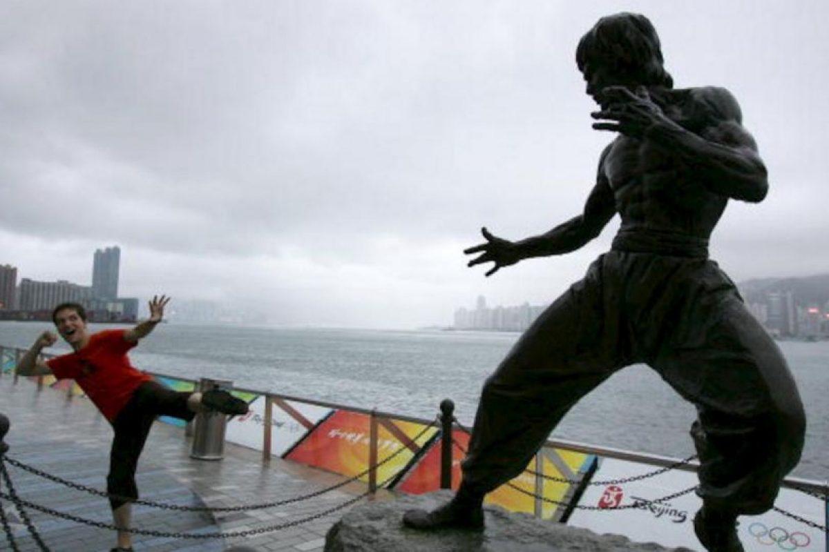 Estatua de Bruce Lee en Honk Kong Foto:Getty. Imagen Por: