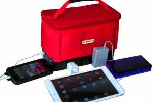 Charger Genie: Un puerto de carga universal y al mismo tiempo es el bolso ideal para nuestros dispositivos móviles. Foto:Indiegogo. Imagen Por: