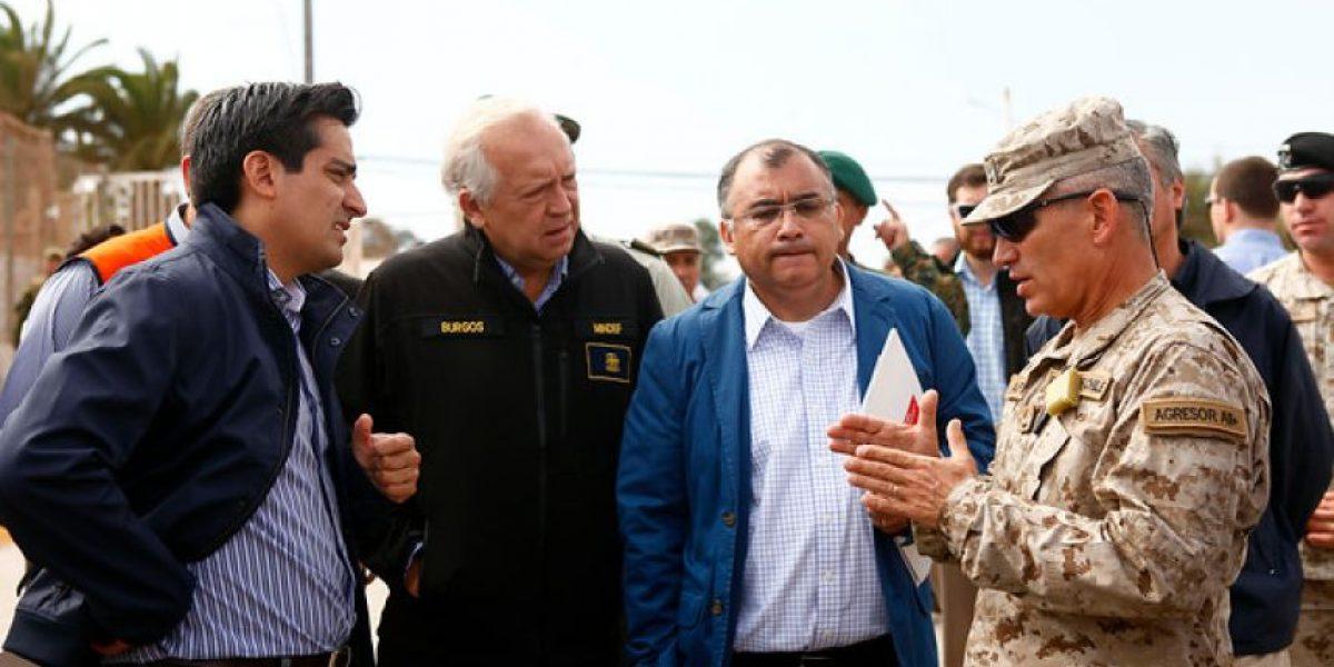 Fotos: Peñailillo y Burgos hacen positivo balance de la entrega de ayuda en zona afectada por terremoto