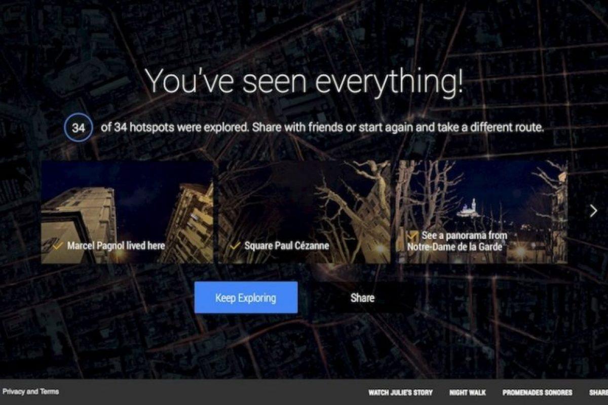 Cuando terminan la caminata, pueden compartirla en redes sociales. Foto:Google. Imagen Por: