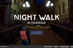 Un paseo nocturno por calles de Marsella. Foto:Google. Imagen Por: