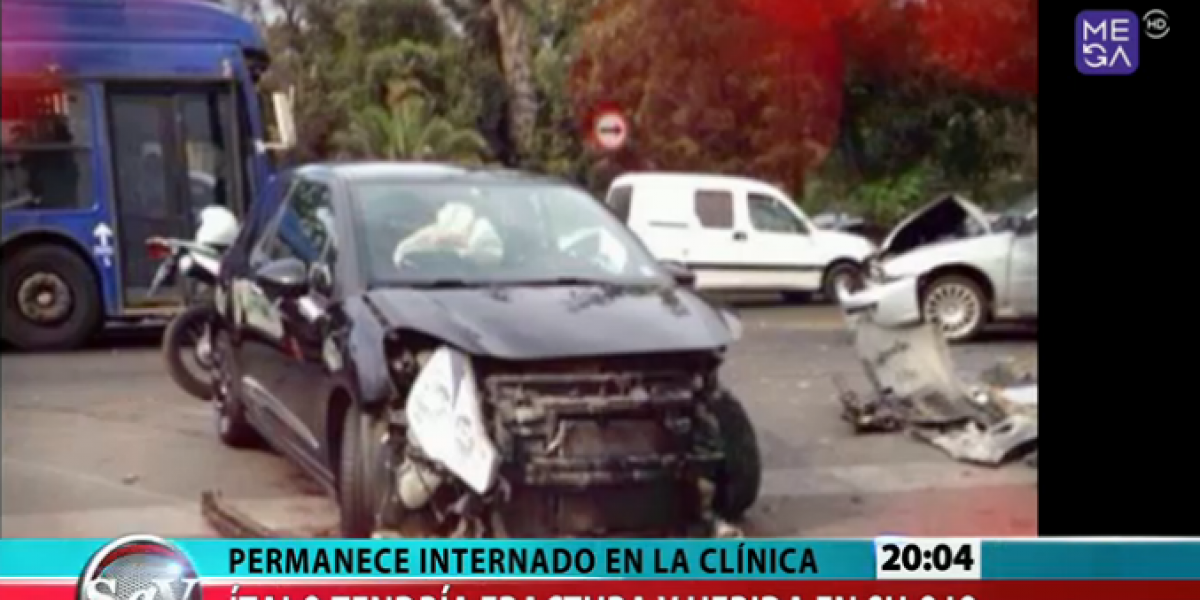 Accidente automovilístico deja con una fractura a Ítalo Passalaqcua