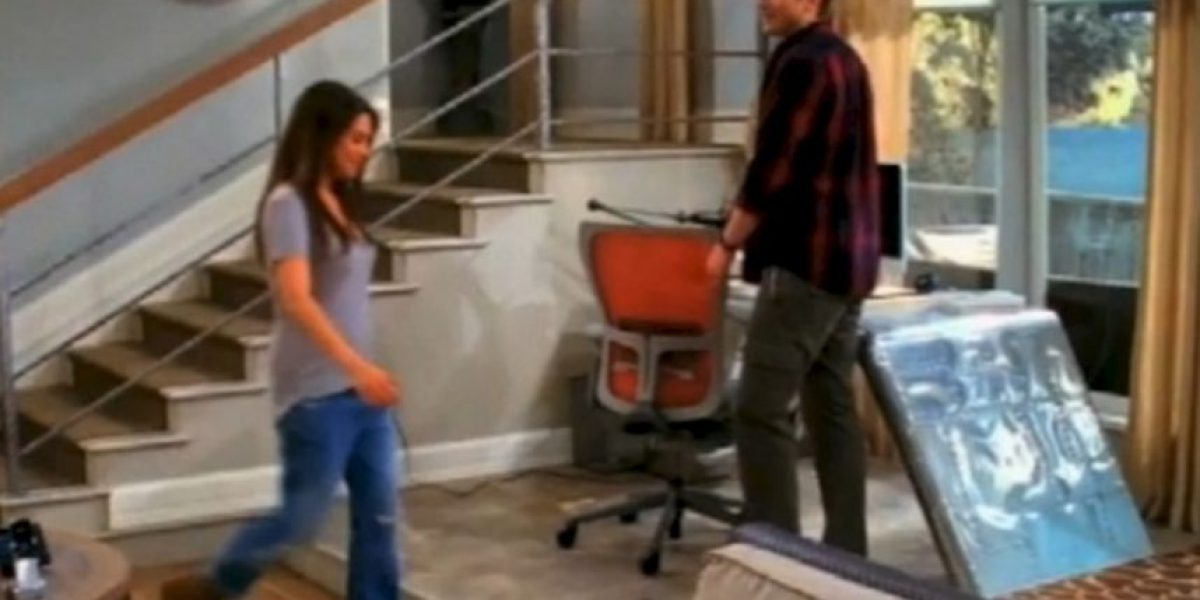 Fotos: Mila Kunis y Ashton Kutcher, juntos en Two and a Half Men
