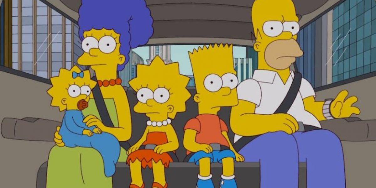 Los Simpsons homenajean a David Letterman